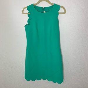 J. Crew Green Scallop Mini Dress Women's Size 0